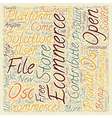 OS Commerce text background wordcloud concept vector image vector image