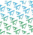paper plane origami design background vector image vector image