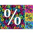 percentage sign vector image