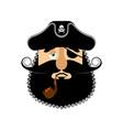 pirate sad emoji head filibuster wailful emotion vector image vector image