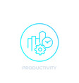 productivity icon linear style vector image vector image