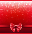 red ribbon isolated vector image
