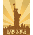 Retro new york background vector