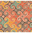 Retro pattern with swirls vector image