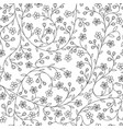 seamless little daisy flower pattern vector image vector image