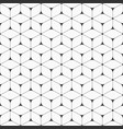 seamless pattern of smooth triangles connected by vector image vector image