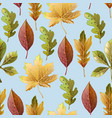 seamless pattern with autumn yellow leaves vector image vector image