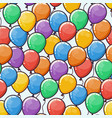 seamless pattern with multicolored balloons vector image vector image