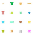 set of flower pots isolated vector image vector image