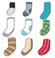 set of socks vector image vector image