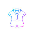 silk top and shorts gradient linear icon vector image vector image