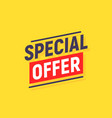 special offer banner poster background sale vector image vector image