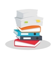 Stack of Documents Flat Design on White vector image vector image