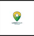 star green land pin logo vector image