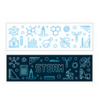 steam concept modern banners in outline vector image