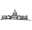 The White House vector image vector image
