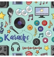 Theme of karaoke pattern vector image vector image