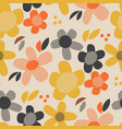 vintage colors geometric floral seamless pattern vector image vector image