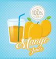vintage fresh mango juice vector image vector image