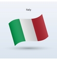 Italy flag waving form vector image