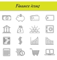 Outline icons set Finance icon vector image