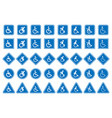 handicap icons disabled people sign vector image