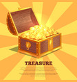 treasure bright wooden box vector image