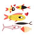 a cheerful bright fish vector image
