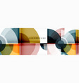 abstract background bright circles geometric vector image vector image