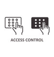 access control icon on white background