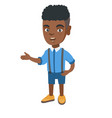 african little boy gesturing with his hands vector image
