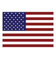 american flag icon vector image vector image