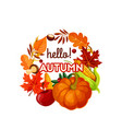 autumn harvest vegetable fruit and leaf poster