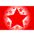background with red stars vector image vector image