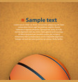 basketball on floor vector image