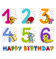 birthday greeting cards collection vector image vector image