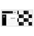 calendar 2020trendy minimalist style set 12 vector image