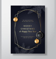 christmas abstract greeting card poster or vector image vector image