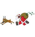 christmas cartoon cash grab vector image
