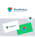 circles logotype with business card template vector image