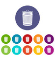 closed bucket icon simple style vector image vector image