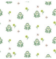 cute frogs pattern vector image vector image