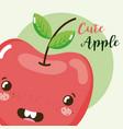 cute fruit kawaii cartoon vector image vector image