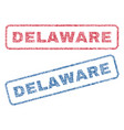 delaware textile stamps vector image vector image