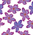 Desert Rose lilac flower Seamless pattern Sketch vector image vector image