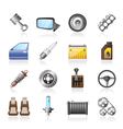 Detailed car parts icons vector | Price: 3 Credits (USD $3)
