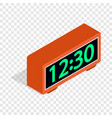 digital clock isometric icon vector image vector image