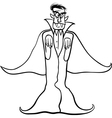 Dracula vampire cartoon for coloring book vector image