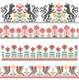 Embroidery border vector image