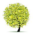 Energy apple tree for your design vector image